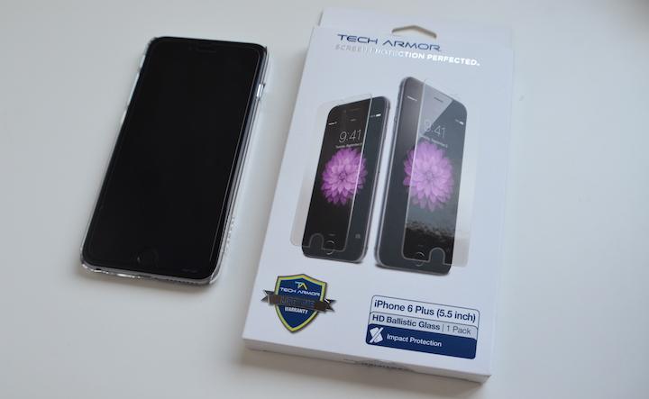 Review: protector Tech Armor HD Ballistic Glass para iPhone 6 Plus, protección antibalas